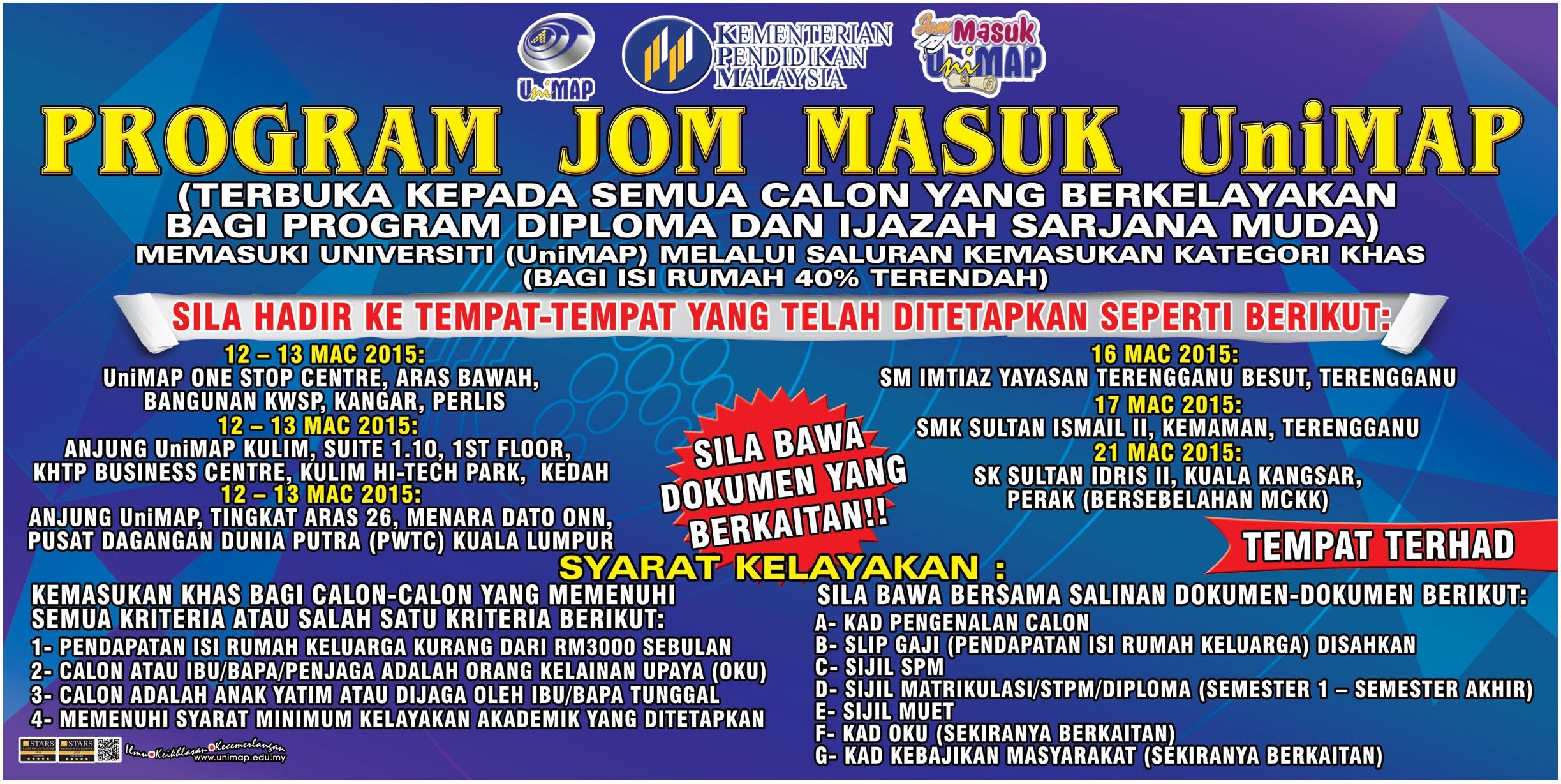 Jom Masuk UniMAP 2015